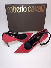 Roberto Cavalli Red Suede Heel With Strap WPS257 PM050 $695