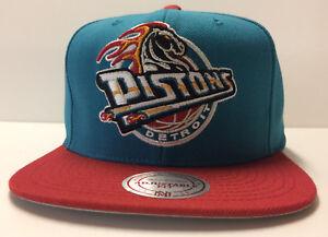 Detroit Pistons Mitchell & Ness NBA Snapback Hat Cap Horse Hardwood Classics HWC