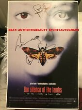 SILENCE OF THE LAMBS MOVIE SIGNED ANTHONY HOPKINS JODIE FOSTER 12x18 REPRINT RP