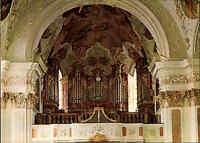 Kirchen Bauwerke Innenansicht Kirche Benediktiner Abtei in 8354 METTEN color AK