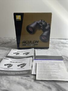 Empty Replacement Box & Manuals Only For Nikon aculon A211 10-22x50 binoculars