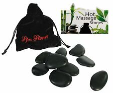 18 MASSAGE STONES ROCKS HEAT THERAPY IN 2 POUCHES TREATMENT SPA RELAX MOOD HOT