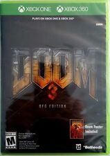 DOOM 3 BFG EDITION with DOOM POSTER * XBOX ONE & XBOX 360 * BRAND NEW SEALED!