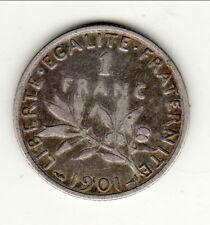 1 FRANC ARGENT TYPE SEMEUSE 1901 TTB