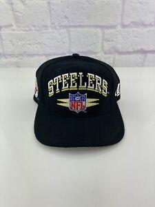 VINTAGE 1990s PITTSBURGH STEELERS LOGO ATHLETIC DIAMOND WOOL MEN'S SNAPBACK HAT!