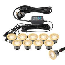 Brass Hardwired Mains LED Garden Lighting