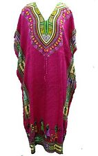 Beautiful African Pink Kaftan Free Size Maxi Dress Beach Casual Evening Wear