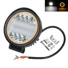 48W Halo Ring Work Led Light Fog Driving Amber+White Offroad ATV Truck Tractor 1