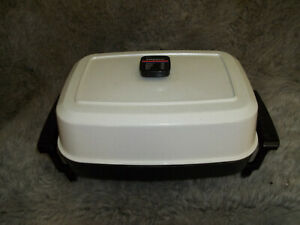 Vintage-  Presto Electric Frying Pan/Skillet Warmer High Dome Model 0690003