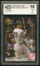 AARON JUDGE 2017 Topps NOW RC #87 BCCG 10 NY Yankees BGS