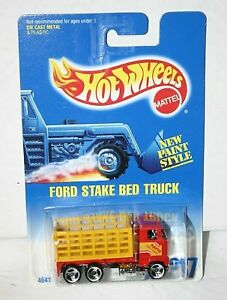 Hot Wheels Ford Stake Red Truck # 237 rapid delivery
