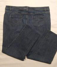 """CJ Banks 22W Straight Fit Womens Plus Size Jeans Dark Wash stretch 28"""" inseam"""