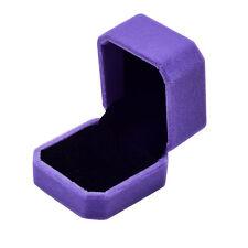 Fashion Velvet Engagement Wedding Earring Ring Pendant Jewelry Display Box PP
