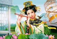 Puzzle 1500 Parti - Giapponese/Cinese Bambina - Castorland Cina Giappone