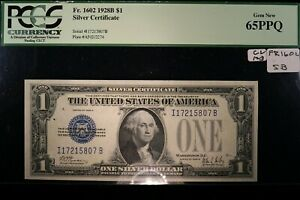 """1928B Small Silver Certificate PCGS 65 PPQ    """"TOUGH NOTE IN THIS HIGH GRADE"""""""