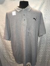 Puma Mens XXL Heather Gray Polo New Shirt Grey NWT Dry Cell Moisture Management