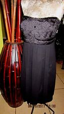 "DAVIDS!>Beautiful Dress! BLACK! Empire Beading on Top!>Size 20"" Bust-no tag!-?X"