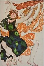 Leon Bakst, Costume Design For Two Bacchentes From Narcisse, Russian Ballet..