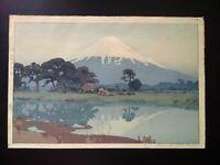 HIROSHI YOSHIDA Fujiyama from Suzukawa from the series Ten Views of Mount Fuji