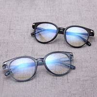Ee _ Vintage Unisex Gafas Marco Redondo Lente Transparente Óptica Protección N