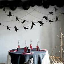 Halloween Black Birds Garland Hanging Crow Paper Festive Home Decorations  A+