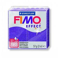 Pâte FIMO effect lilas pailleté N°602 57g