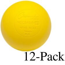 Champion Sports Official Size Rubber Lacrosse Ball, Yellow (Pack of 12)