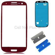 New Replacement Repair Screen Front Glass Outer lens For Samsung Galaxy S3 RED