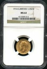 1914 Great Britain Gold 1/2 Sovereign NGC MS-64 -139620