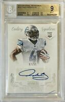 THEO RIDDICK ROOKIE 2013 PANINI AUTOGRAPH CARD BGS MINT 9 DETROIT LIONS RC #d/99