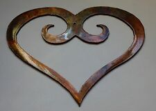 """Ornamental Scrolled Heart XLg /Bronze Plated Metal Wall Decor 30"""""""