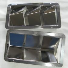 THREE SLOT LOUVRED VENT, ONE STAINLESS STEEL BOAT HULL VENT OR FOR CARS