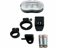 Pair 9 LED Bike Bicycle Back Or Front Light Wide Beam 7 Mode Batterys Included