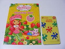 Infantil Niños Niñas Strawberry Shortcake PARA COLOREAR LIBRO + 12 lápices