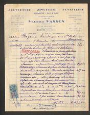 """ANGERS (49) COUVERTURE ZINGUERIE FUMISTERIE """"Maurice MASSON"""" en 1952"""