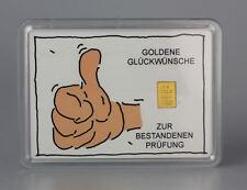1 Gramm Gold 999,9 + Zertifikat ► 1g Goldbarren ► Geschenk Prüfung Like Super