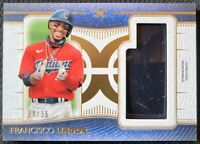 2021 TOPPS DEFINITIVE FRANCISCO LINDOR GAME USED BATTING HELMET RELIC 34/35 CLE