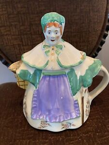 "SHAWNEE GRANNY ANN TEAPOT, 8 1/4"" TALL Must SEE Vintage Floral Colorful"