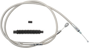 La Choppers Black Vinyl Braided Clutch Cable 08-13 FLH//T W// 12-14 Bars