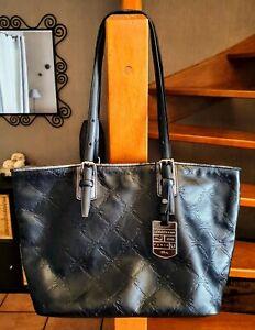 Longchamp beau sac/cabas cuir empreinte noir avec sa pochette offre possible ❤