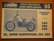OEM 95 KTM 350 400 620 SX Super Competition EXC EGS Spare Parts Manual