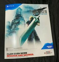 "FINAL FANTASY 7 REMAKE 28"" X 24"" POSTER GameStop FFVII FREE SHIPPING"