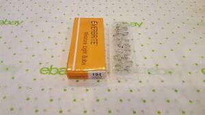 Box of 10 194 EVERBRITE Bulbs Dash Corner Turn Lamp 12V Lightbulb