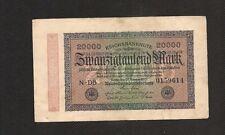 Germania Impero Tedesco Banconota Circolata 20000 Marchi 1923 Reichsbanknote