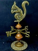 Table Top Copper and Brass Weather Vane Squirrel over 11 inches tall