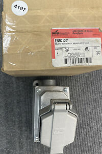"""COOPER ENR21201 ARKGARD DELAYED ACTION CIRCUIT BREAKING RECEPTACLE 3/4"""" Crouse"""