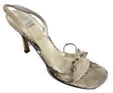 STUART WEITZMAN Gold Size 9 Evening Sandals Heels or Shoes