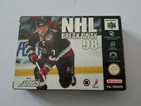 NHL Breakaway 98 - Nintendo 64 N64 Game [PAL EUR] CIB Boxed with manual