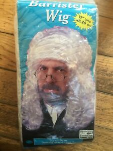 The Judge Barrister Fancy Dress Wig - White New