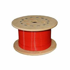 Loos Stainless Steel 302/304 Wire Rope Nylon Coated 7X7 Strand Core Red